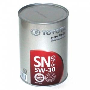 TOYOTA Масло моторное синтетическое Motor Oil SAE 5W-30 SN (1л)