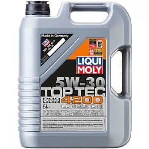 LIQUI MOLY Масло моторное синтетическое Top Tec 4200 5W-30 (5л) специально для Volkswagen Audi Group