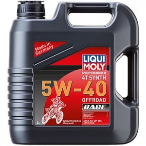 LIQUI MOLY Масло моторное Motorbike 4T Synth 5W-40 Offroad Race (Cинтетическое) (4л)
