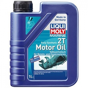 LIQUI MOLY Масло моторное Marine Fully Synthetic 2T Motor Oil (Синтетическое) (1л)