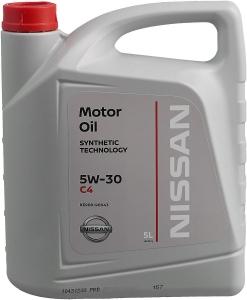 Nissan Масло моторное синтетическое DPF 5W-30 C4 (5л)