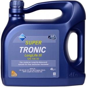 Моторное масло ARAL SUPER TRONIC LONGLIFE III SAE 5W-30, 4л