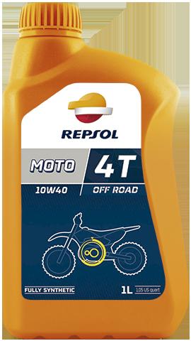 REPSOL Масло моторное синтетическое MOTO OFF ROAD 4T 10W-40 (1л)