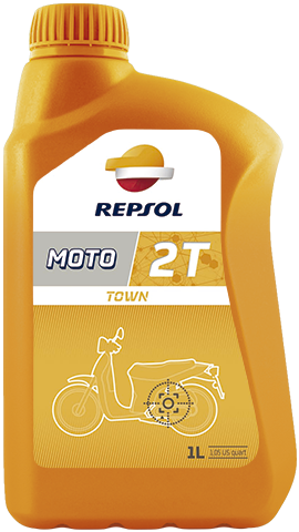Масло моторное REPSOL MOTO TOWN 2T (1л)