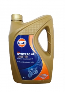 Масло моторное GULF Syntrac 4T SAE 10W-40 (4л)