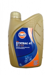Масло моторное GULF Syntrac 4T SAE 5W-40 (1л)