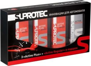 Подарочный набор Suprotec Актив Бензин + 3 шт.  и Актив Регуляр в подарок