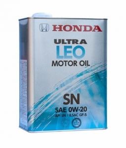 Моторное масло Honda Ultra LEO-SN 0W-20, 4л