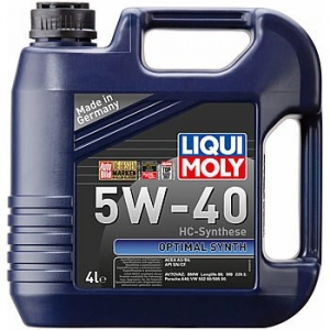 Моторное масло LIQUI MOLY Optimal Synth 5W-40, 4л