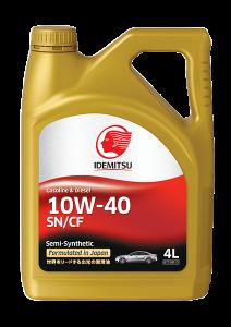 Моторное масло Idemitsu Semi-Synthetic 10W-40 SN/CF, 4л
