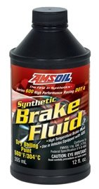 AMSOIL Жидкость тормозная Series 600 DOT 4 Racing Synthetic Brake Fluid (0,355л)