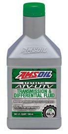 Масло трансмиссионное AMSOIL Synthetic ATV/UTV Transmission & Differential Fluid (0,946л)
