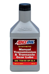 Масло трансмиссионное AMSOIL Synthetic Manual Transmission & Transaxle Gear Lube SAE 75W-90 (0,946л)