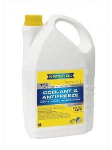 Антифриз RAVENOL TTC Traditional Technology Coolant Premix готовый жёлтый (5л)