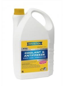 Антифриз RAVENOL TTC Traditional Technology Coolant Concent концентрат жёлтый (5л)