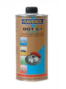 RAVENOL Жидкость тормозная DOT-5.1 (1л)