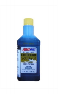 Масло моторное AMSOIL Outboard Synthetic 100:1 Pre-Mix  2-Stroke Oil (0,236л)
