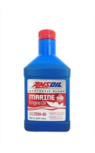 Масло моторное AMSOIL Synthetic Blend Marine Engine Oil SAE 25W-40 (0,946л)