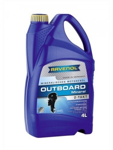 Масло моторное RAVENOL Outboard 2T Mineral (4л) new