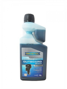 Масло моторное RAVENOL Outboard 2T Mineral с дозатором (1л) new