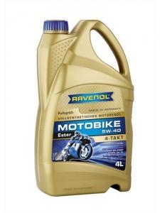 Масло моторное RAVENOL Motobike 4-T Ester 5W-40 (4л)