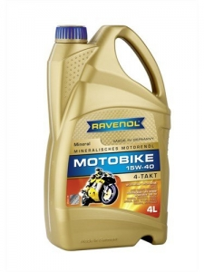 Масло моторное RAVENOL Motobike 4-T Mineral 15W-40 (4л)