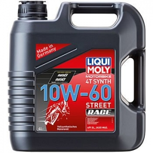 Масло моторное LIQUI MOLY Motorbike 4T Synth Street Race 10W-60 (4л)