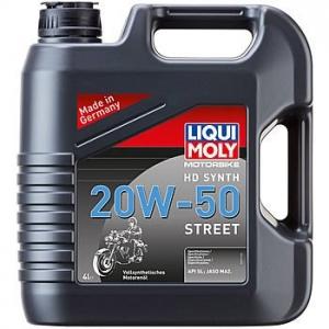 Масло моторное LIQUI MOLY Motorbike 4T HD Synth 20W-50 Street, 4л