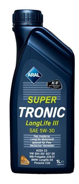 Моторное масло ARAL SUPER TRONIC LONGLIFE III SAE 5W-30, 1л