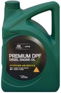 Моторное масло Hyundai Premium DPF Diesel 5W-30, 6л