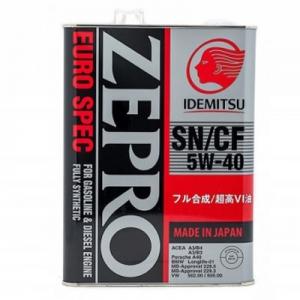 Моторное масло Idemitsu Zepro Euro Spec 5W-40 SN/CF, 4л