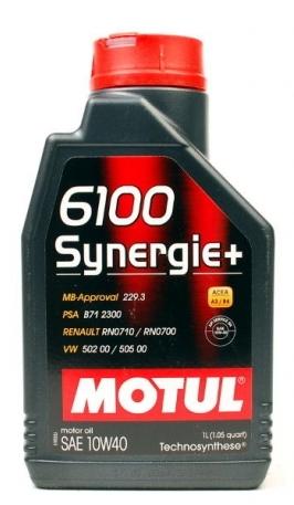 Моторное масло Motul 6100 Synergie+ 10W-40, 1л
