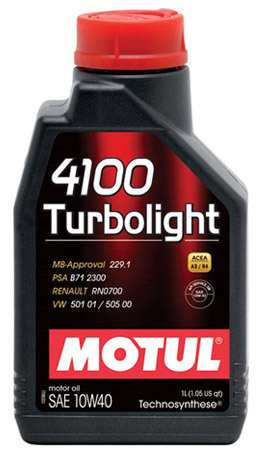 Моторное масло Motul 4100 Turbolight 10W-40, 1л