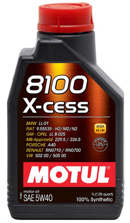 Моторное масло Motul X-Cess 8100 5W-40, 1л
