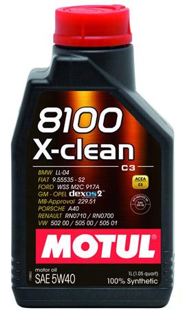 Моторное масло Motul X-Clean C3 8100 5W-40, 1л