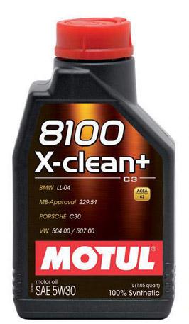 Моторное масло Motul 8100 X-CLEAN+ C3 5W-30, 1л
