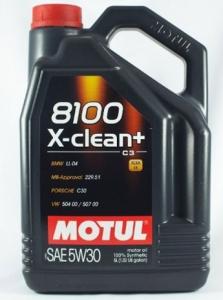 Моторное масло Motul X-Clean+ C3 8100 5W-30, 5л