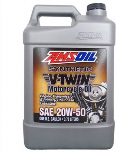 Масло мотоциклетное AMSOIL Synthetic V-Twin Motorcycle Oil SAE 20W-50 (3,78л)
