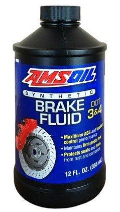 AMSOIL Жидкость тормозная DOT 3 and DOT 4 Synthetic Brake Fluid (0,355л)