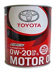 Моторное масло TOYOTA Motor Oil 0W-20 SN Plus/GF-5, 1л