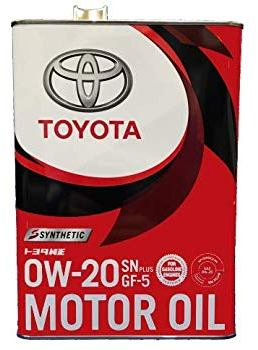 Моторное масло TOYOTA Motor Oil 0W-20 SN Plus/GF-5, 4л