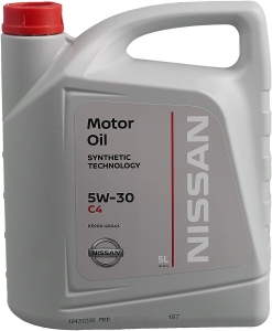 Моторное масло Nissan DPF 5W-30 C4, 5л