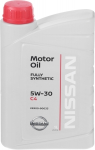 Моторное масло Nissan DPF 5W-30 C4, 1л