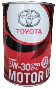 Моторное масло TOYOTA Motor Oil 5W-30 SN/CF, 1л
