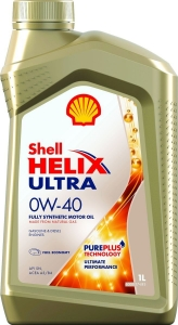 Моторное масло Shell Helix Ultra 0W-40, 1л
