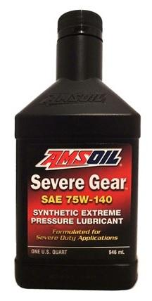 Масло трансмиссионное AMSOIL Severe Gear Synthetic Extreme 75W-140 (0.946л)