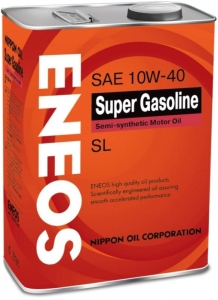 Моторное масло ENEOS Super Gasoline 10W-40 п/синт SL, 4л