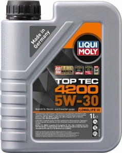 Моторное масло LIQUI MOLY Top Tec 4200 5W-30 специально для Volkswagen Audi Group, 1л