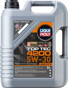 Моторное масло LIQUI MOLY Top Tec 4200 5W-30 специально для Volkswagen Audi Group, 5л