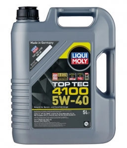 Моторное масло LIQUI MOLY Top Tec 4100 5W-40 специально для Mercedes Benz, BMW, Porsche, Volkswagen Audi Group под EURO 5, 5л